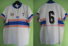 Maillot Rugby porté EQUIPE de FRANCE militaire vintage FFR Epsport Shirt - XXL