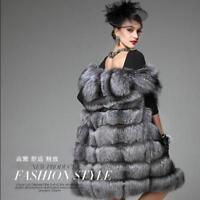 Fur Womens Long Thicken Jacket Winter Parka Overcoat Outwear Coat Vest Waistcoat