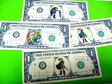 LEGEND OF ZELDA DOLLAR BILL LOT PLAY MONEY 4 BILLS CHOOSE ANY SET