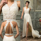 Luxury Bridesmaid Ball Prom Gown Formal Evening Party Cocktail White Long Dress