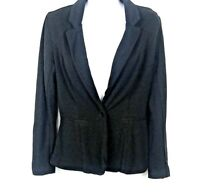 Maurices Womens M Black Military Jacket Top Button Down Fitted Casual Medium