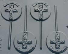 FANCY CROSS ON ROUND COMMUNION LOLLIPOP CHOCOLATE CANDY MOLD DIY PARTY FAVOR