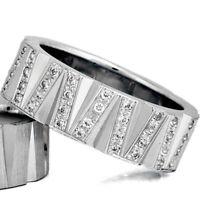 Silber 925 Trauringe Eheringe Verlobungsringe mit Gravur und Swarovski Stein D6