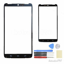 For Motorola Droid Turbo XT1254 Black Front Outer Glass Lens Screen Parts + Tool