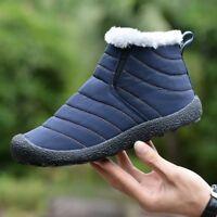 Winter Men Snow Boots Cotton Inside Women Warm Casual Shoes Waterproof Ski Boots