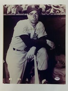 "Joe DiMaggio NY Yankees Signed Autograph 11"" x 14"" Black and White Photo PSA DNA"