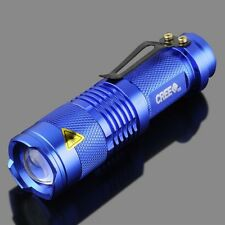 Mini CREE Q5 Zoomable 300 Lumen LED Flashlight Torch Lamp AA 14500 Battery