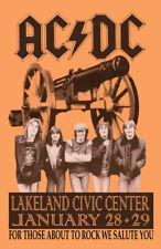 AC/DC REPLICA 1982 CONCERT POSTER
