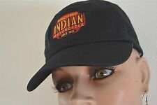 INDIAN MOTORCYCLES ORIGINAL BASEBALL CAP BLACK TOP AND BRIM WITH INDIAN LOGO