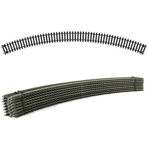 8 NEW R609 HORNBY 3rd RADIUS DOUBLE CURVE NICKEL SILVER THIRD TRACK PIECES PACK