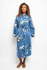Dressing Gown Womens Cyberjammies Heather Blue Floral Print Size 10