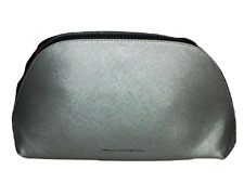 FRENCH CONNECTION Silver Metallic Large Cosmetic Case Toiletry Bag - Brand New