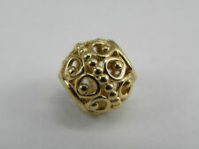 Original ALE PANDORA Element Gold 585 / 14 k BEAD Goldener Käfig 750458
