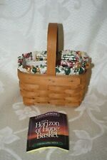 Horizon of Hope Acs American Cancer Society Longaberger Basket 1995 combo Euc