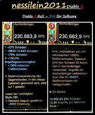 Diablo 3 RoS Ps4 - Modded - Fast Sword - Aschenbringer - LvL 1 - Softcore