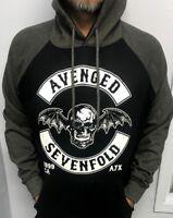 AVENGED SEVEN FOLD 1 TWO TONES HOODIES PUNK ROCK BLACK  MEN'S SIZES