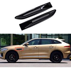 side mesh vent bar grille grill trim moulding fit for Jaguar F PACE F-PACE 2016+