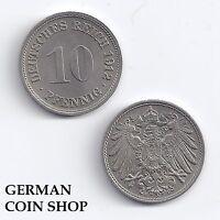 Germany Kaiserreich 10 Pfennig 1912 F - TOP ZUSTAND - Prägefrisch/Mint state