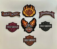 Harley Davidson Patches - PACK OF 7 -Embroidered Biker Patches Badge Iron/Sew on