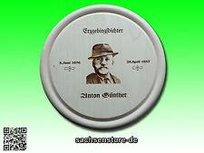"""Wandteller mit Motiv """"Anton Günther"""" Erzgebirgsdichter --- Rund - 25cm!"""