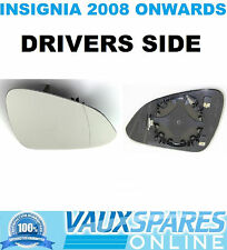 VAUXHALL INSIGNIA ELECTRIC HEATED WING MIRROR GLASS DRIVERS OFF SIDE SE CDTI SRI