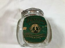 Vintage Glass PATTERSON'S TUXEDO TOBACCO Humidor Jar with Lid Super Rare