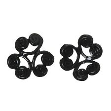 10x perlas tapas perlkappen remates filigrana flores para 12 mm perlas metal
