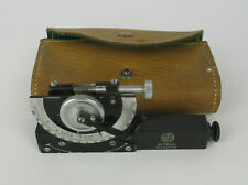 Pocket Inclinometer By Watts Of London, Complete With Leather Case