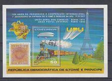 D. Eisenbahn - Lokomotiven  Sao Tome E Principe  Block 17 A  **  (mnh)