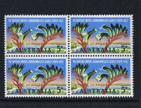 #055v) Australian Pre-Decimal Stamps 1962 5d Perth Commonwealth Games Blk 4 MNH
