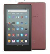 Amazon Fire 7 (9th Generation) 16GB Wi-Fi 7in Plum Bundle (With 1 Yr Protection)