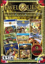 Jewel Quest The Crown Collection New - Includes - I, II , II Mysteries & More!