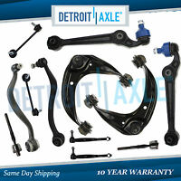 (12pc) Front Upper Lower Control Arm Ball Joint Tierod Sway Link 03-07 Mazda 6