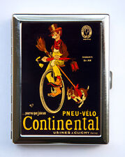 Unicycle ad Cigarette Case Wallet Business Card Holder victorian illustration