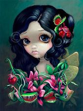 ART PRINT Carnivorous Bouquet Fairy  Jasmine Becket-Griffith 14x11 Gothic Poster