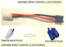 RC Tamiya Male Plug To EC3 Male Plug Lead 14AWG 100mm Cable Connector Adapter