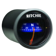 """Ritchie X-21BU Dash Mount Marine Boat Compass 2"""" Dial 12v Lighted"""