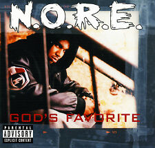 N.O.R.E. GOD'S FAVORITE (Retail Promo CD, Album) Uncensored (2002)