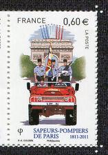 FRANCE 2011, timbre SAPEURS-POMPIERS de PARIS, DEFILE', neuf**