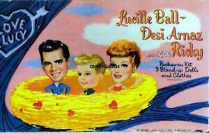 VINTAGE UNCUT 1953 LUCILLE BALL, DESI, LITTLE RICKY PAPER DOLLS~#1 REPRODUCTION