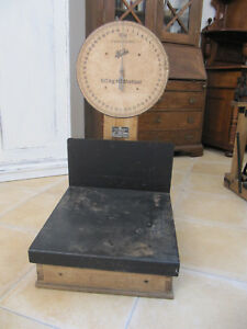 Antike Postwaage bis 50 kg Höchstlast Alfred Herrmann KG, Hewac Paketwaage