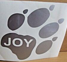 Auto Aufkleber Hund SILBER Folie Hundepfote mit dem Hundenamen Ihrem Liebling