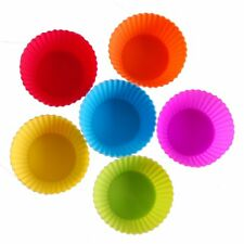 24pcs DIY Cupcake Silicone Cups Baking Liners Reusable Molds Cake Cups Muffin US