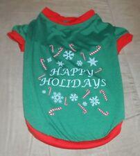 Pet Clothing Happy Holidays  Size Medium  New without Tag