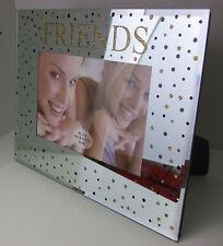 """CORNICE FOTO IN VETRO PER """"Friends"""" con specchio con Dotts foto di dimensioni 5 3/4"""" x 3 3/4"""""""