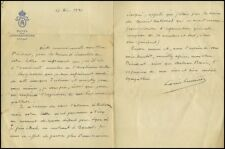Louis Lumiere (Photographer/Inventor): Autograph Letter to Gabriel Baixe