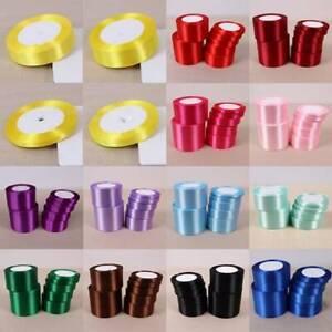 25 Yards Satin Ribbon 6/10/12/15/20/25/40/50/80mm Craft Wedding Party Favor DIY