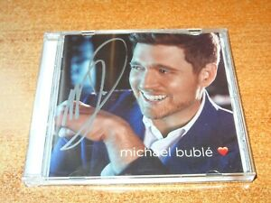 MICHAEL BUBLE - LIMITED & RARE AUTOGRAPH NEW CD ALBUM LOVE - HEART - SIGNED
