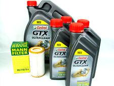 Castrol GTX 10w40 Ultraclean 10w-40 9l + Filtro de aceite MANN HU 718/5x CAMBIO