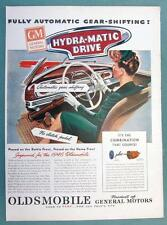 Original 1945 Oldsmobile AD FULLY AUTOMATIC GEAR SHIFITNG - HYDRA-MATIC DRIVE